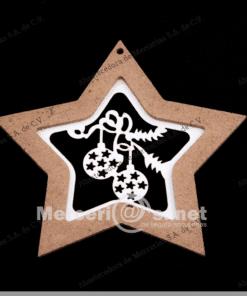 adorno madera estrella calado 11.5cm mercerias.net