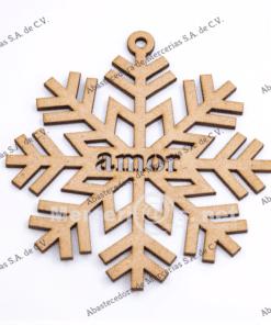 adorno madera navidad copo deseos amor 12cm mercerias.net