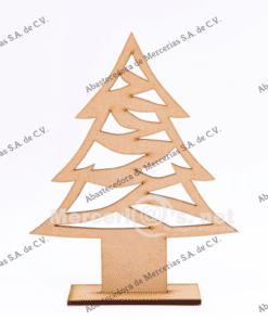 adorno pino de madera 16cm mercerias.net