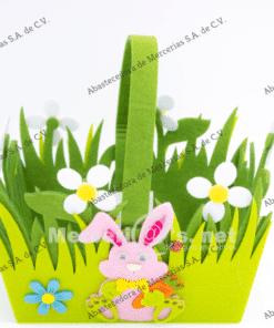caja decorada conejo de pascua de16x11cm mercerias.net