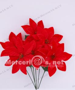 flor artificial nochebuena mercerias.net
