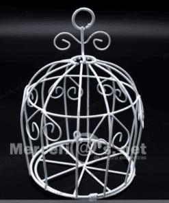 jaula con corazon de alambre blanco mercerias.net