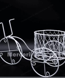 triciclo de alambre con canasta mercerias.net