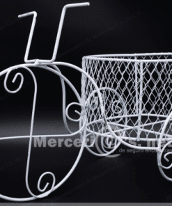 triciclo mediano de alambre con canasta mercerias.net